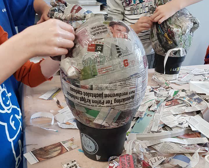 kunst workshop in de school